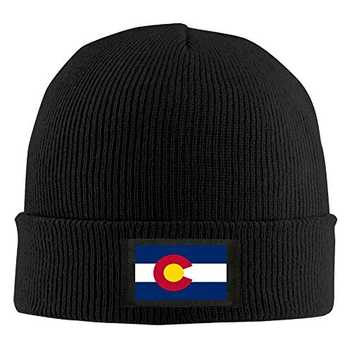 DD Decorative Men Women Colorado State Flag Daily Beanie Hat Outdoor Skull Cap Warm Hat Knitted Beanies
