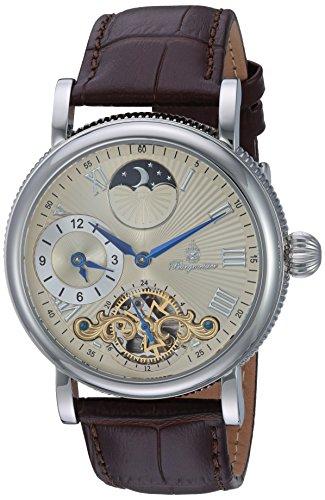 Burgmeister Armbanduhr für Herren mit Analog Anzeige, Automatik-Uhr und Lederarmband - Wasserdichte Herrenuhr mit zeitlosem, schickem Design - klassische Uhr für Männer - BM226-175 Fairfield