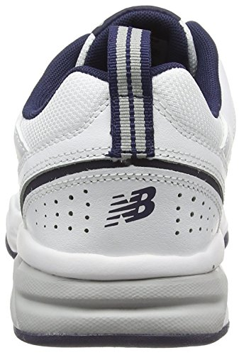 New Balance 624v4, Chaussures de Fitness Homme Blanc (White/Navy 115)