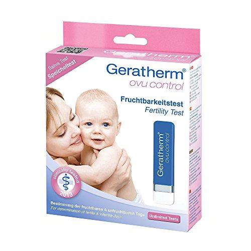 Geratherm ovu control Fertilitätstest / Fruchtbarkeitstest auf Speichelbasis zur Bestimmung der fruchtbaren Tage
