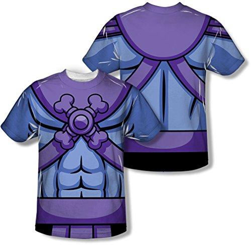 Masters Of The Universe - Herren Skeletor Kostüm (vorne / hinten Print) T-Shirt, Medium, White