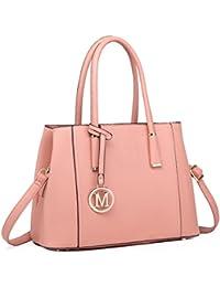 c19a94d608 Miss Lulu Stylish Design Ladies Top Quality Litchi Skin Pu Leather Tote  Shoulder Handbag for Women