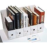 CAVEEN Revistero Archivador de la Oficina Cartón Caja de Almacenamiento con Cédula Organizador de Documentos Papelería Revist