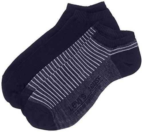 Levi's Herren Levis 168SF Low Cut Stripe 2P Sneakersocken, Blau (mid Denim 824), 43/46 (Herstellergröße: 43-46) (2erPack) - Low Cut-2 Pack-socken