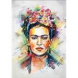 Cuadro sobre lienzo 50 x 70 cm: Frida Kahlo de Tracie Andrews - cuadro terminado, cuadro sobre bastidor, lámina terminada sobre lienzo auténtico, impresión en lienzo