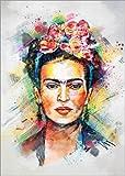 Posterlounge Leinwandbild 50 x 70 cm: Frida Kahlo von Tracie Andrews - fertiges Wandbild, Bild auf Keilrahmen, Fertigbild auf echter Leinwand, Leinwanddruck