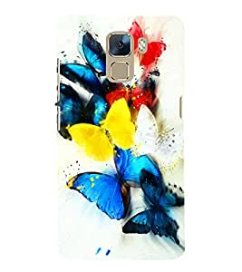 printtech Colored Butterfly Animated Back Case Cover for  Huawei Honor 7 Enhanced Edition / Huawei Honor 7 Dual SIM with dual-SIM card slots