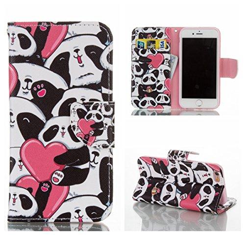 iPhone 6/6s 4,7 Coque, Voguecase Étui en cuir synthétique chic avec fonction support pratique pour Apple iPhone 6/6s 4,7 (Panda 05)de Gratuit stylet l'écran aléatoire universelle Panda 05