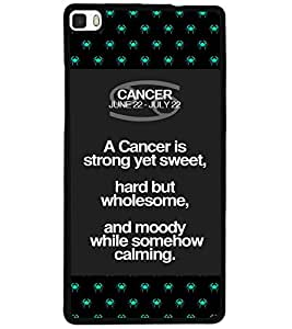ColourCraft Zodiac Cancer Design Back Case Cover for HUAWEI P8