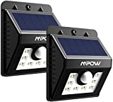 Solar Security Lights, Mpow 3-in-1 Solar Lights Motion Sensor Lights Outdoor Waterproof Bright Lights with 3 Intelligient Modes for Garden, Fence, Stairs, Yard or Driveway (Pack of 2, 8 LED)