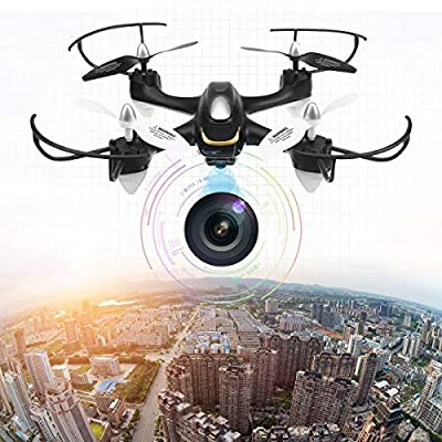 EACHINE Quadcopter Drone With 2.0 MP HD Camera, E33C 2.4G 6 Axis Headless Mode One Key Return RC Quadcopter RTF by Aeiolw