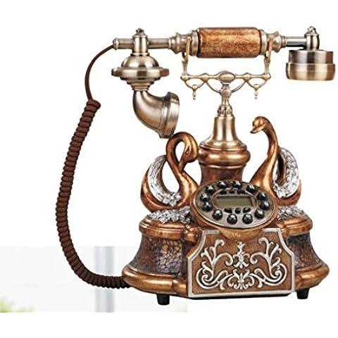 25 * 22 * 26cm creativo telefoni ruggine vernice in resina, antico aristocratica telefono fisso ornamenti decorativi rete fissa