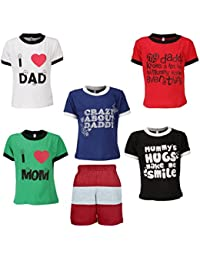 Gkidz Boys Pack of 5 Half Sleeve T-Shirts and Bermudas (JB5PCKMND-1_N_BER-001_Multi Color)
