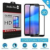 Arctic Fox 1X gehärtetes Glas 3D Schutzfolie Kurve Full Cover Vollschutzfolie Glas Transparent HD Anti Scratch für Huawei P20 Lite