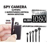 SPY SPY SPY CAMARA FULL HD DETECCIÓN DE MOVIMIENTO MICRO cámara oculta espía CW145