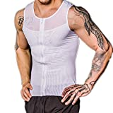 HuntDream Herren Slim Shapewear Weste Top Jagdtraum Body Shaper Nylon Kompression Shirts EUR Größe L/Asian XL