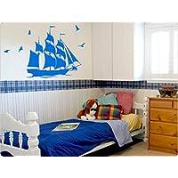 """I-love-Wandtattoo 11249 Wandtattoo Kinderzimmer """"Piratenschiff"""""""