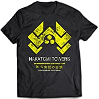 9153 Nakatomi Towers Uomo T-Shirt Die Hard Bruce Willis Tower Plaza Los Angeles