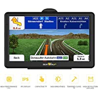 7-inch 8GB high-brightness sat nav and touchscreen including pre-installed UK and EU maps for free lifetime updates
