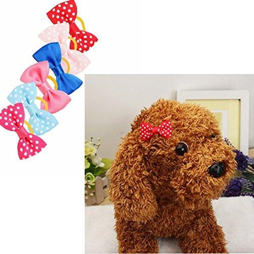 Bazaar Nettes handgemachtes Haustier Haar Bögen Bunte Haustier Hundekatze Haarnadel