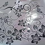 Ba Zha Hei Abnehmbare Vinyl Wandaufkleber Wandbild Aufkleber Kunst - Blumen und Rebe Wandtattoo Wandaufkleber Wall sticker Aufkleber DIY für Wohnzimmer (als zeigen, 50CM*70CM)