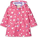 Hatley Girls Splash Jackets Rain, Colour Changing Floating Hearts, 12 Years