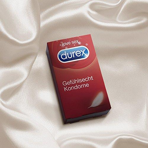 Durex Gefühlsecht Kondome, hauchzart für intensives Empfinden, 16er Pack (1 x 16 Stück) - 4