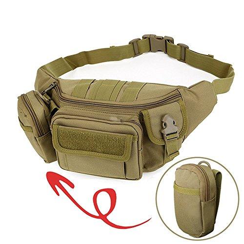 Taktische Militär Hüfttasche, 2win2buy Bauchtasche Gürteltasche [9 Fächer] MOLLE Praktische Beutel für Outdoor Sport Wandern Laufen Radfahren Klettern -