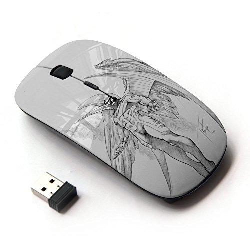 KOOLmouse [ Mouse Senza Fili Ottico 2.4G ] [ Archangel Demon Wings Angel Sketch ]