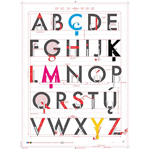 Pop Chart Lab-Poster Stampa Alphabet of Typography