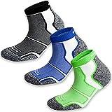 3 Pairs More Mile New York Cushioned Coolmax Sports Running Socks 8.5-10.5 UK / 42-45 EU