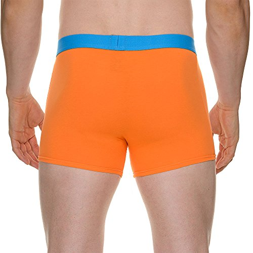 Bruno Banani - 2 Pack Short Flowing, Boxer da uomo Multicolore(Mehrfarbig (blau//orange 1783))