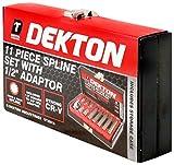 Dekton DT85815 - Juego de llaves hexagonales con adaptador de 1/2