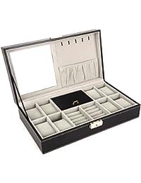 DoubleBlack Caja Joyero Organizador Para Joyas Caja para 8 Cuadrícula Reloj