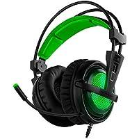 BG Xonar-X6 Binaural Diadema Negro, Verde Auricular con micrófono - Auriculares con micrófono