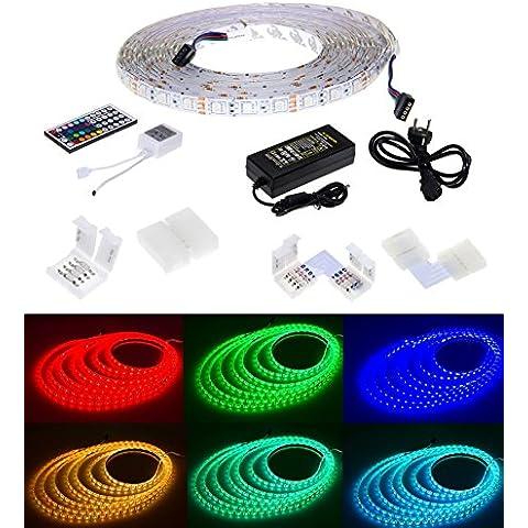 Adapter-Universe LED striscia 5m RGB serie luminosa 5x Striscia Connettori rapidi Connettore angolo Set