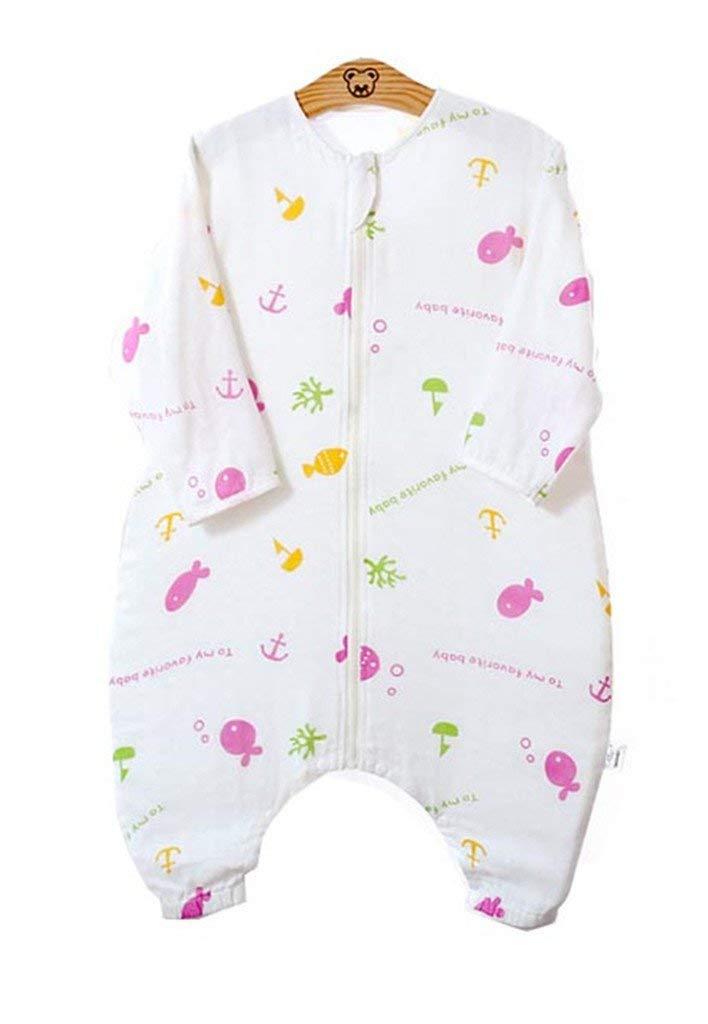 Eastery Saco De Dormir De Verano para Bebés con Pies Pijamas Estilo Simple para Niños 0.5 TOG Desde El Nacimiento hasta Los 3 Años Elegante Y Cómodo Hogar Estilo Moderno