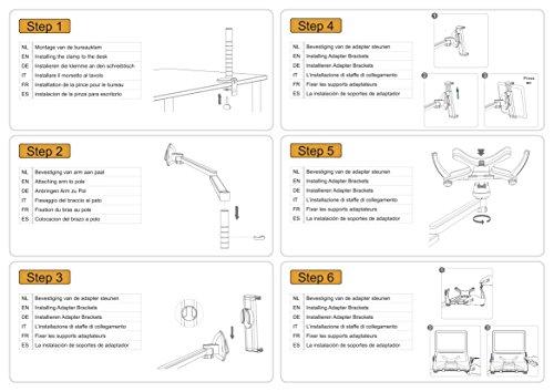 Newstar Desk Mount (clamp) for Laptop & Monitor (10-27