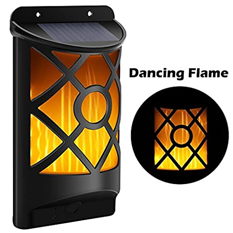 Cinoton Solar Path Dancing Flame Lighting 66 LED Crépuscule à Dawn Flickering Outdoor Waterproof Fence lights (1 Light)