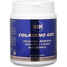 GSN Colageno, Magnesio, Vitamina C y Acido Hialuronico, sabor limon, 340 g