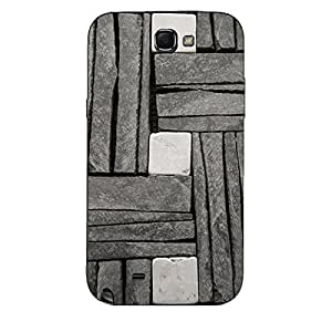 GREY & WHITE STONE WALL BACK COVER SAMSUNG GALAXY NOTE 2