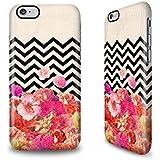 iPhone 6s Plus Hülle mit Bianca Green Design - Chevron Flora II