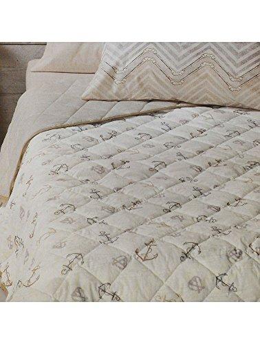 Copriletto trapuntato primavera estate trapuntino estivo zucchi basics letto singolo una 1 piazza 170 x 260 cm (delfi - beige)