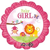 Safari Baby Girl Folienballo, Attack 30 cm