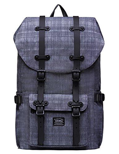 Sac à dos pour ordinateur portable KAUKKO Sac extérieur fonctionnel pour Voyager & Camping Sac à dos étudiant pour étudiant universitaire (gris)