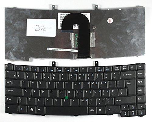 Acer Travelmate 6592G-301G16N, Acer Travelmate 6592G-302G20N, Acer Travelmate 6592G-602G16n, Acer Travelmate 6592G-602G25Mn, Acer Travelmate 6592G-602G25N Mit Zeiger Schwarz Vereinigtes Königreich kompatible Ersatz tastatur (302 Zeiger)