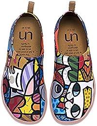 UIN être ensemble Chaussures sportives de toiles peintes jaune pour femme (36) uAuLyK