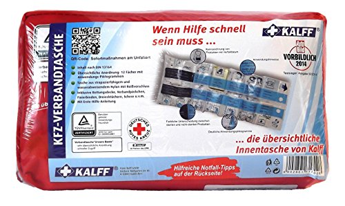 KALFF Auto KFZ-Verbandtasche Verbandkasten Erste-Hilfe-Set Testsieger 1 Stk