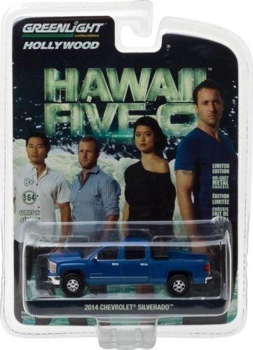 diecast-model-chevrolet-silverado-2014-pickup-tv-movie-hawaii-five-o-greenlight-1-64-original