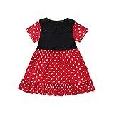 squarex Sommer Kleinkind Kind Baby Mädchen Kurzarm Tupfen gedruckt Nähen Patchwork Kinder Prinzessin Kleid Kleidung